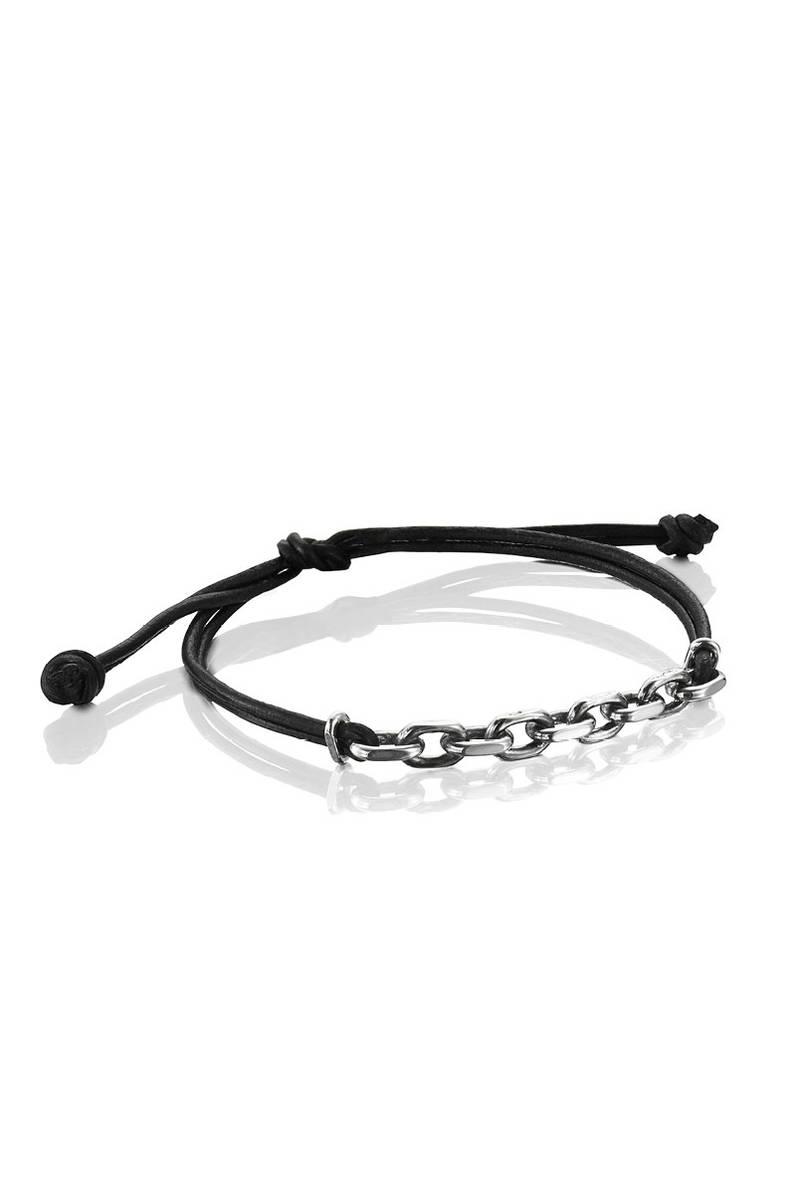 Efva Attling Chain Gang leather brace rannekoru - Nahkaiset rannekorut -  14-110-01140 d013618fee021