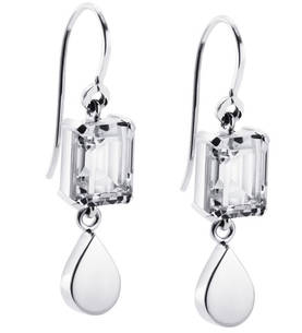 Crystal Drops for Ears hopeiset korvakorut - Hopeiset korvakorut - 12-100-00643-0000 - 1