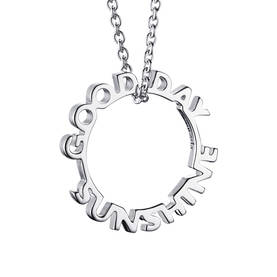 Efva Attling Good Day Sunshine pendant kaulakoru - Hopeiset kaulakorut - 11-100-01060-0080 - 1