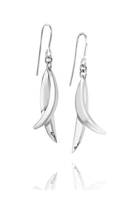 Efva Attling Little lovely leaves earrings korvakorut - Hopeiset korvakorut - 12-100-01211-0000