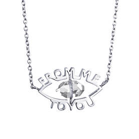 From Me to You necklace hopeinen kaulakoru - Hopeiset kaulakorut - 10-100-01062-4245 - 1