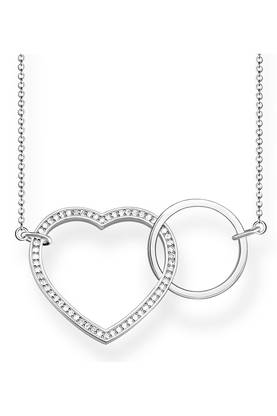 Thomas Sabo Together heart large kaulakoru - Hopeiset kaulakorut - KE1645-051-14-L80V - 1